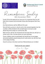 Remembrance Service - 8th November 2020